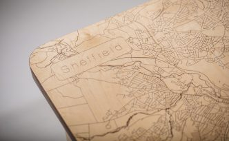 Sheffield Map Coffee Table