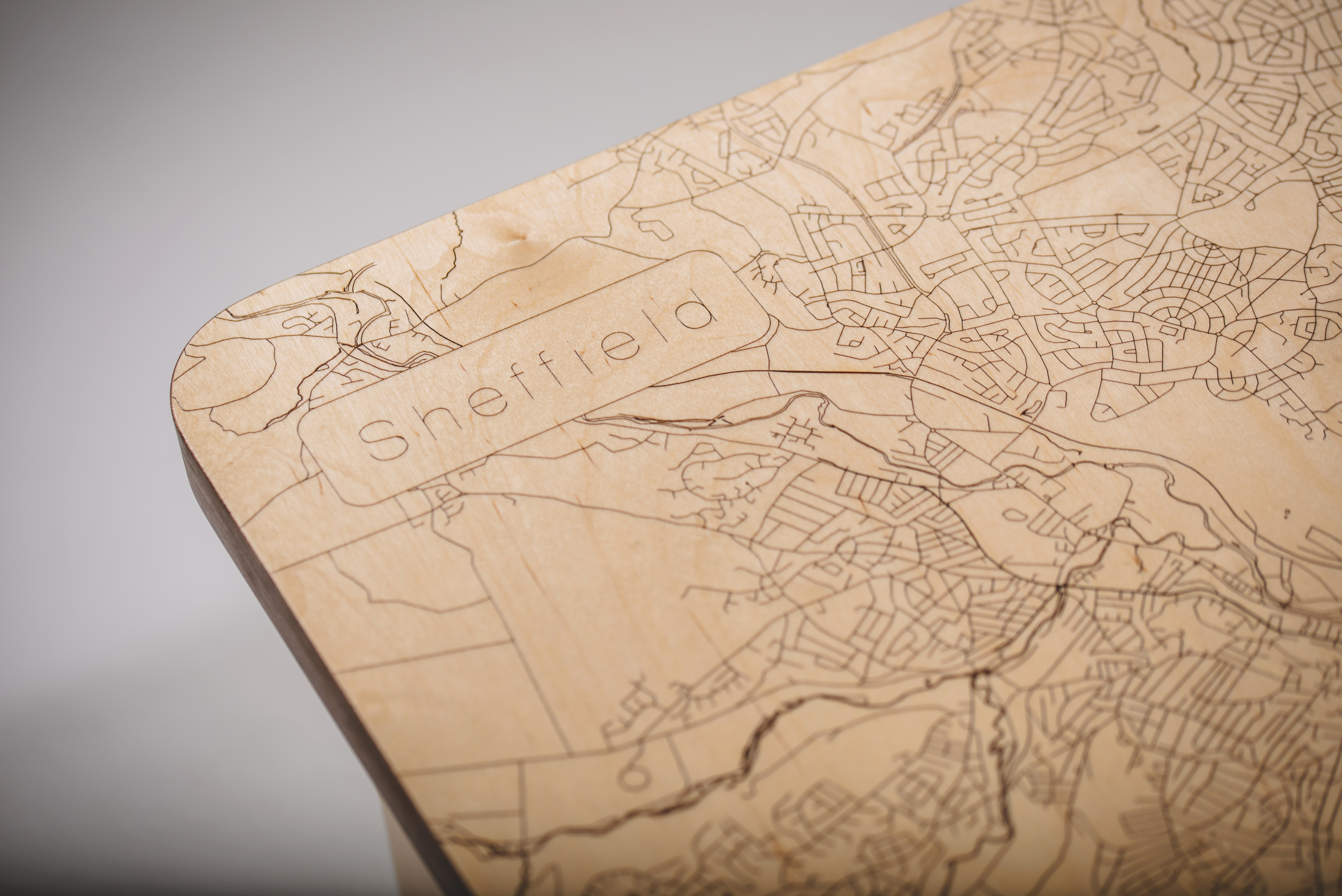 Sheffield Map Coffee Table From The Workshop
