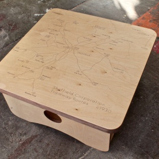 Sheffield Tram Map Coffee Table