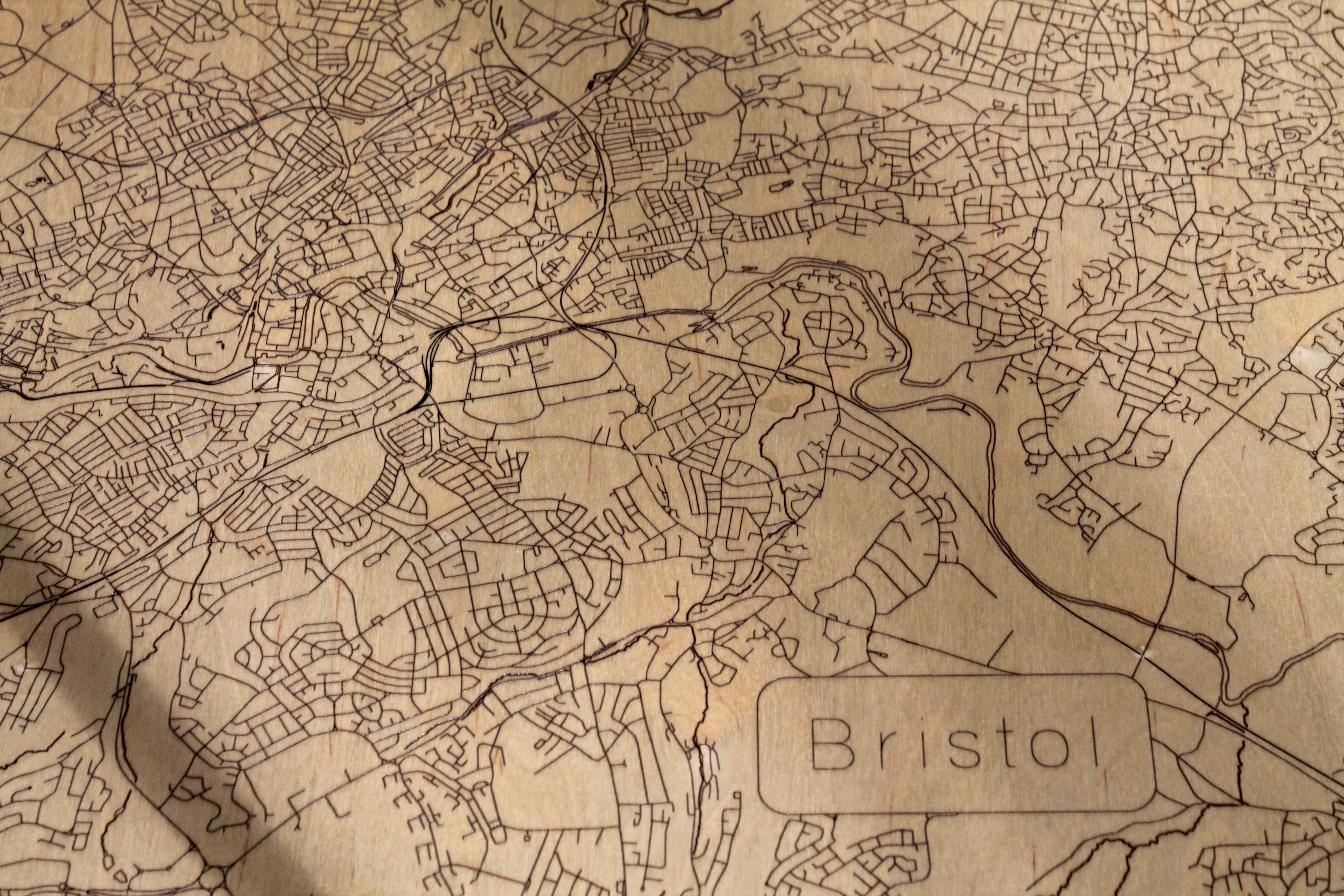 Bristol Map Coffee Table From The Workshop