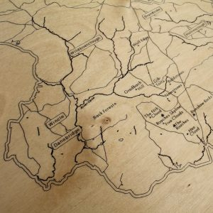 Climbers Peak District Map Coffee Table