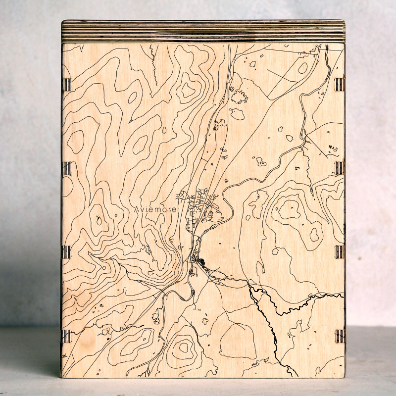 Cairngorms Aviemore Map Box From The Workshop