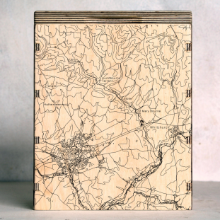 Andover Whitchurch Hampshire Map Box