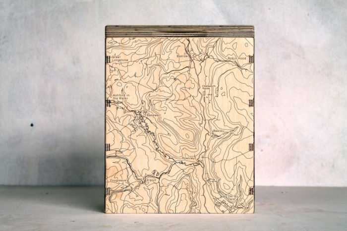 Bakewell Chatsworth Baslow Map Box
