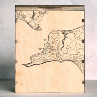 Isle of White West Map Box