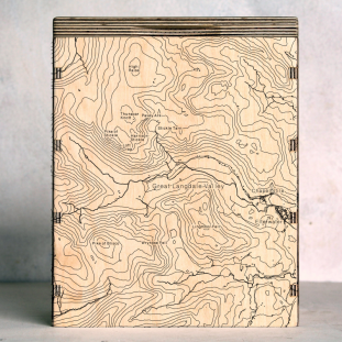 Lake District Langdale Valley Map Box