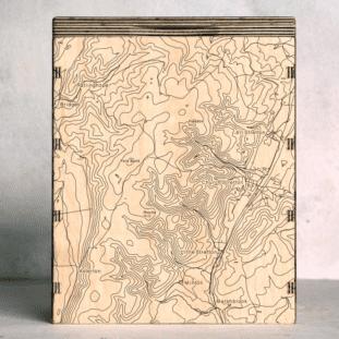 Long Mynd Shropshire Map Box