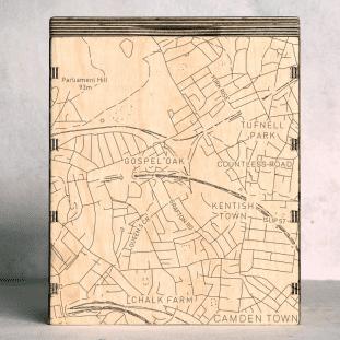 london-camden town kentish town london map box