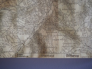 Sheffield Wall Map