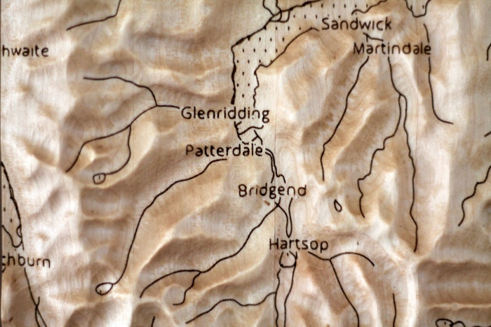 Detail of wall map
