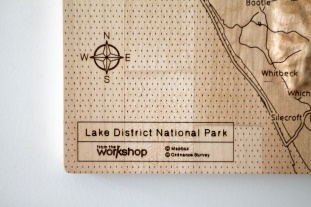 Lake District Four Piece Wall Map