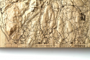 Lake District 30cm Wall Map