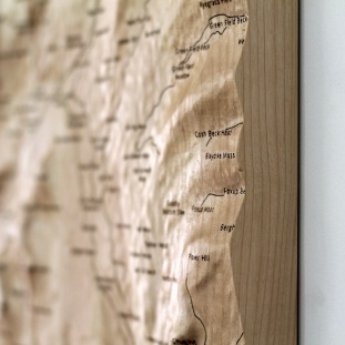 Yorkshire Three Peaks Wall Map