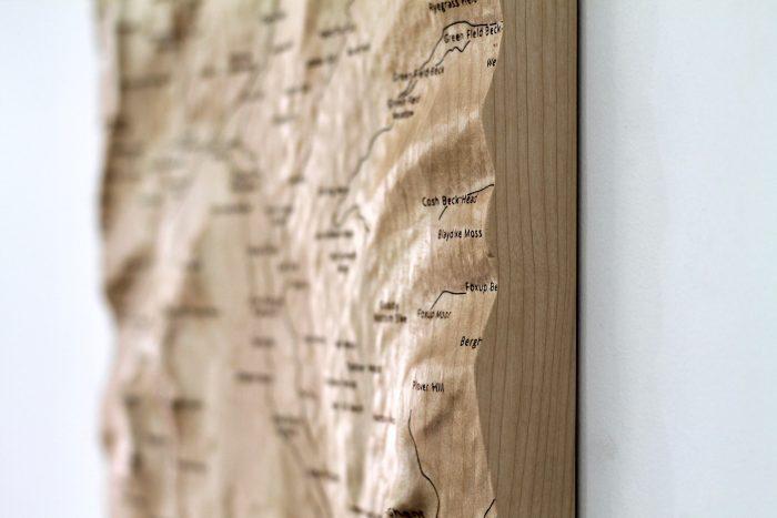 Yorkshire Three Peaks Wall Map