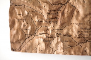 Oak Wall Map