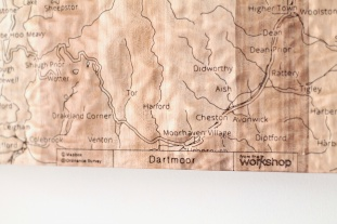 Dartmoor Wall Map