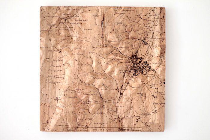 Long Mynd Wall Map